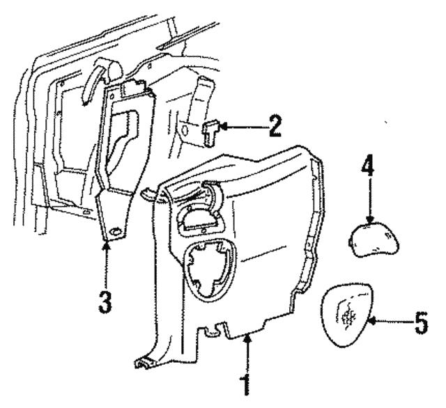 Genuine Oe Ford Speaker Grille F7zz 18979 Aa