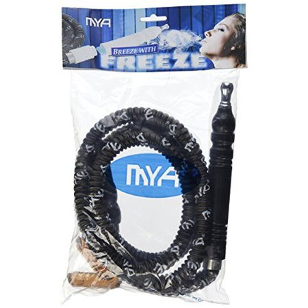MD Wholesalers MYA Premium Black Freeze Hookah Shisha Hose Plus (Zebra Smoke Roll (Best Zebra Hookah Charcoals)