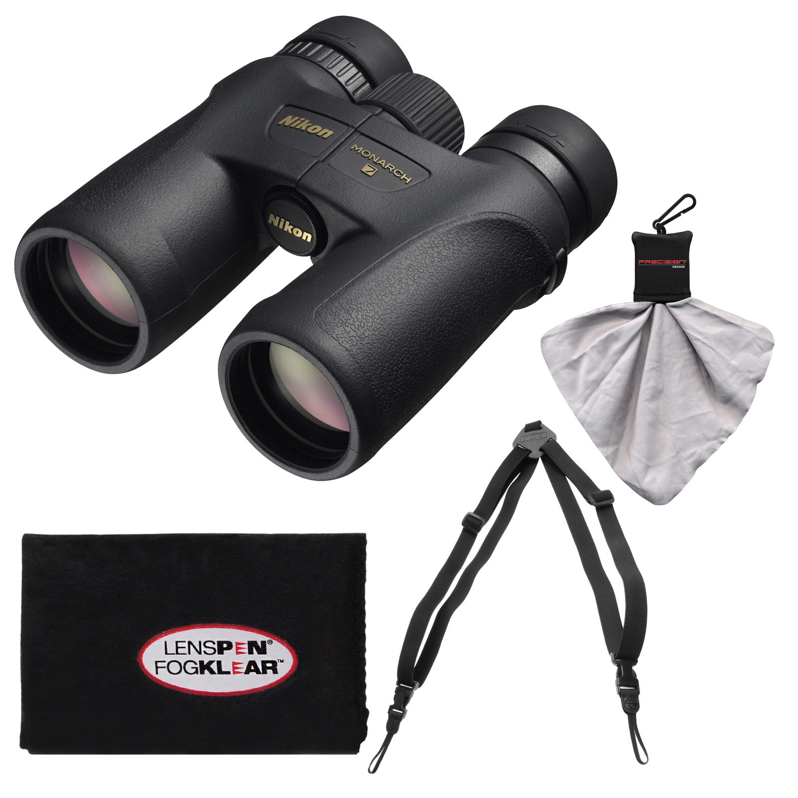 Nikon Monarch 7 8x42 ED ATB Waterproof/Fogproof Binoculars with Case   Easy Carry Harness   Cleaning Cloth
