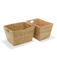 MoDRN Naturals Woven Laundry Utility Basket, Set of 2