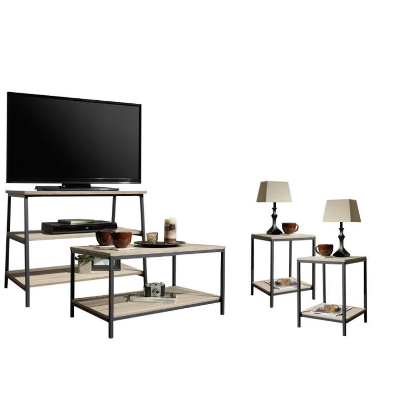 4 Piece Living Room Set With Tv Stand Coffee Table And Set Of 2