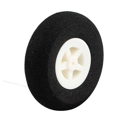 Black Ultralight Rubber Sponge Wheel 40mm x 11mm for 1mm Shaft Dia RC