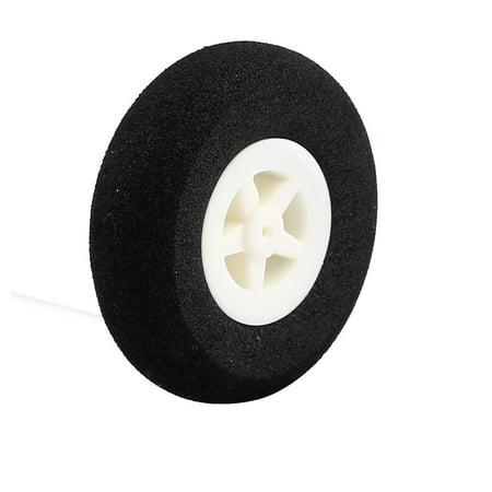 Black Ultralight Rubber Sponge Wheel 40mm x 11mm for 1mm Shaft Dia RC