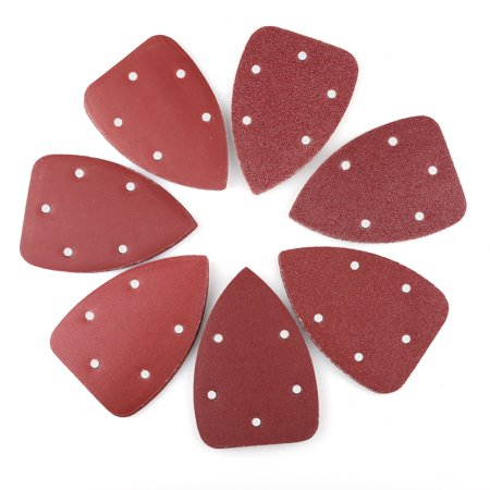 - 70 PCS Mouse Detail Sander Sandpaper Sanding Pads Sheets, 5-Hole, Assorted 40/60/80/120/180/240/320 Grit