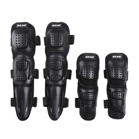 4Pcs/set Adult Sports Motorcycle Bike Racing Skating Elbow Knee Shin Armor Guard Protector Guards Protective Gear Pad