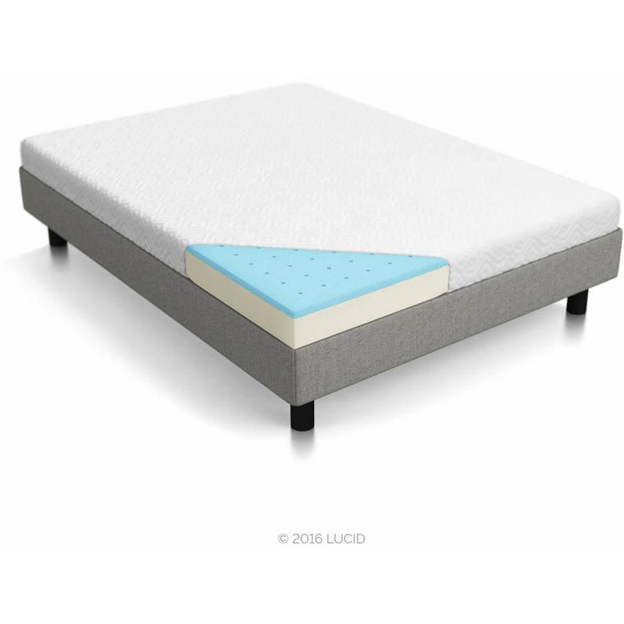 cool gel 10 5 ventilated gel memory foam mattress multiple sizes. Black Bedroom Furniture Sets. Home Design Ideas