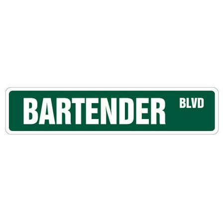 Bat Sign (BARTENDER Street Sign signs bar pub beer drunk | Indoor/Outdoor | 24