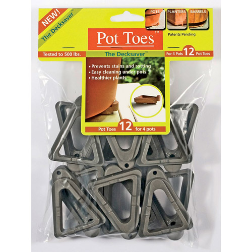 Plant Stand PT-12BLHT 12-Pack Black Pot Toes