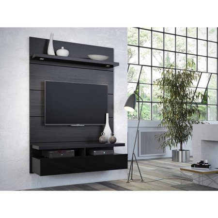 Manhattan Comfort Cabrini 1.2 Floating Wall Theater Entertainment Center for TVs up to 42″, Multiple Colors