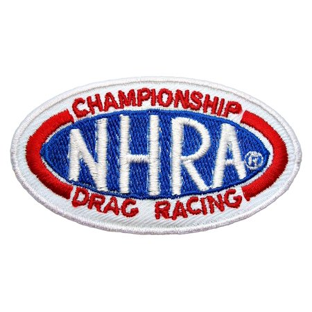 Drag Nhra Racing - NHRA Drag Racing Pro Stock Races Game t Shirt Logo Embroidered Patch 3 x 1.75 inches Logo Sew Ironed On Badge Embroidery Applique Patch.