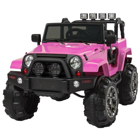 Best Choice Products 12V Ride On Car Truck W  Remote Control  3 Speeds  Spring Suspension  Led Lights Pink