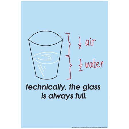 Full Glass Top (Glass is Always Full Poster By Snorg Tees - 13x19)