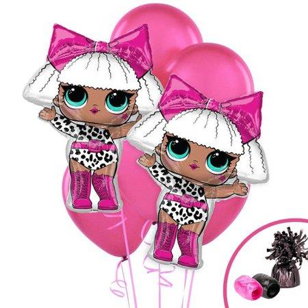 NA 11 Piece LOL Surprise Diva Jumbo Foil Balloon Plastic Disposable Centerpiece Set - Balloon Centerpiece Ideas