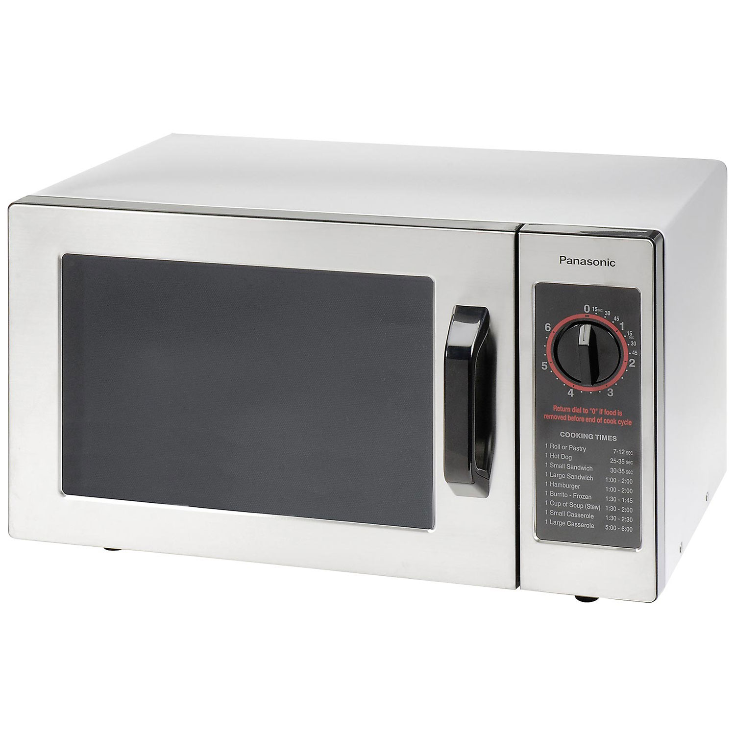 Panasonic NE-1025 - Microwave Oven,  0.8 Cu. Ft. 1000 Watt, Dial Control, Commercial Unit, Lot of 1