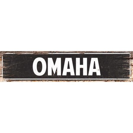 OMAHA Street Plate Sign Bar Store Shop Cafe Home Kitchen Chic Decor 4180066 - Omaha Shopping