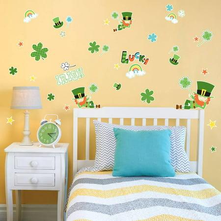 Green Leprechaun St. Patrick's Small Wall Decal](Leprechaun Decorations)