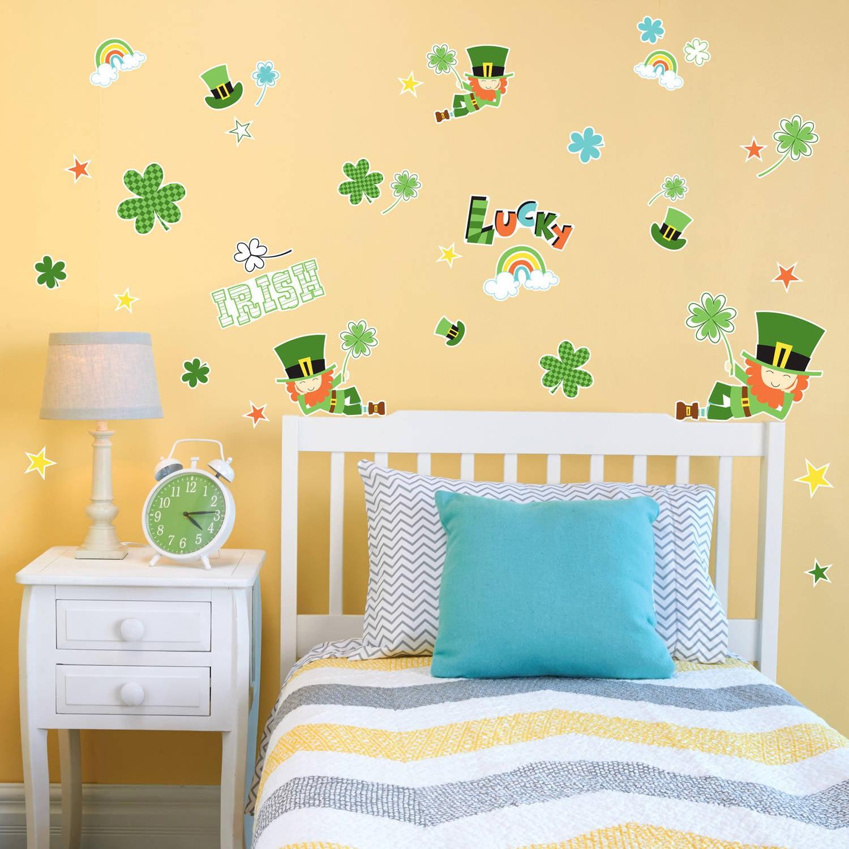 Green Leprechaun St. Patrick's Small Wall Decal