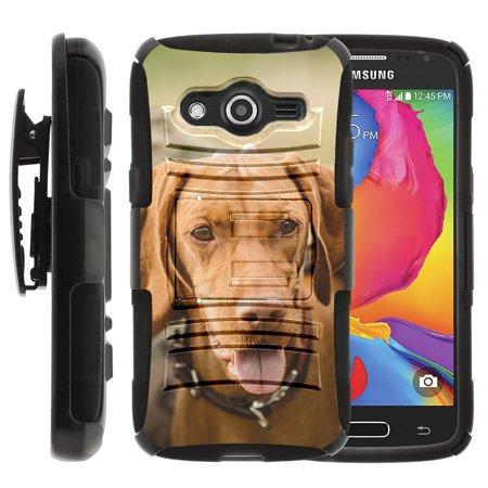 TurtleArmor ® | For Samsung Galaxy Avant [Hyper Shock] Hybrid Dual Layer Armor Holster Belt Clip Case Kickstand - Hunting (Best Caliber For Black Bear Hunting)