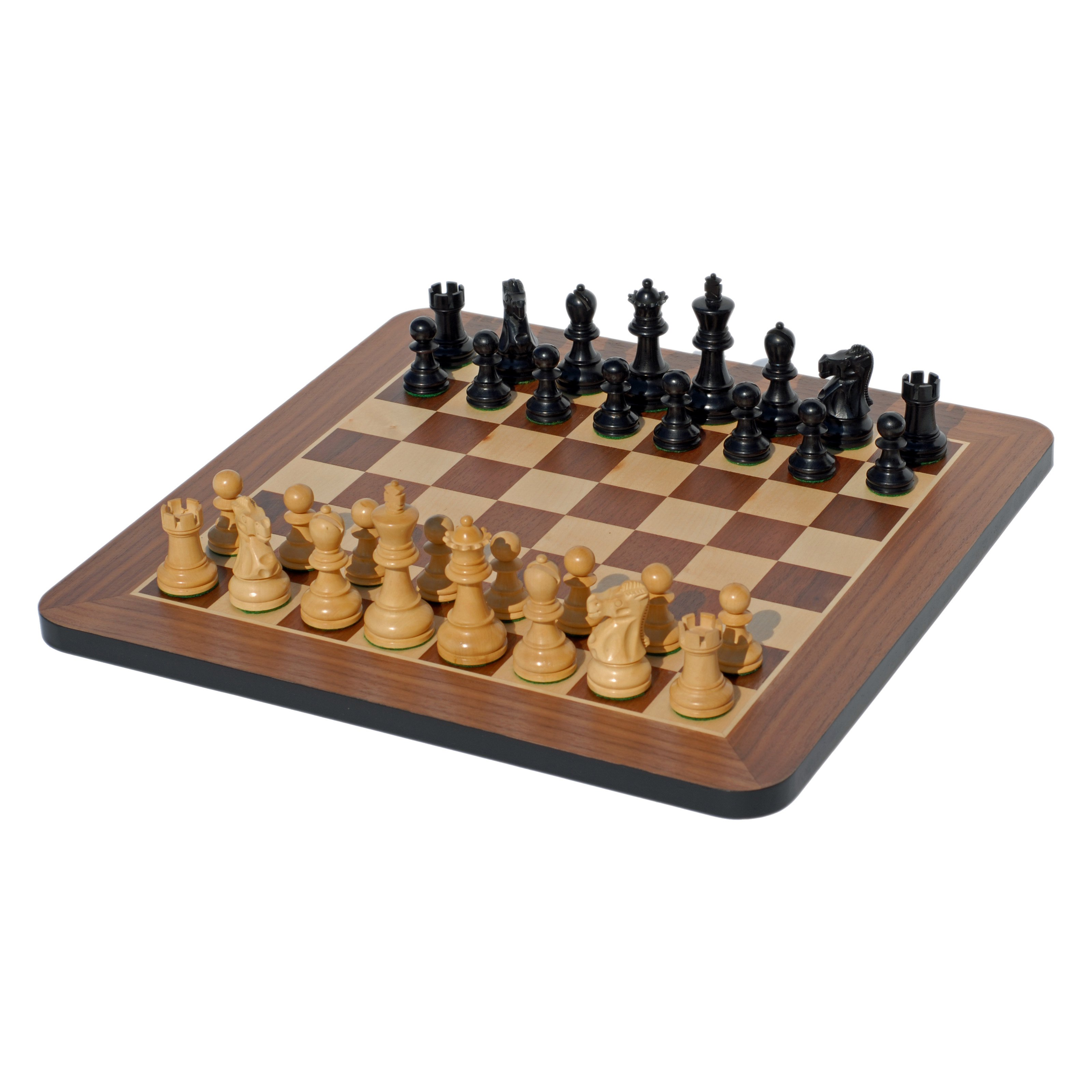 Wood Expressions Staunton Kari Wood Chess Set on 17 in. W...