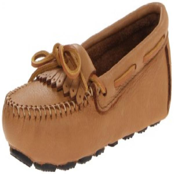 Minnetonka Women's Moosehide Driving Moccasin,Natural Moose,11 M US by Minnetonka