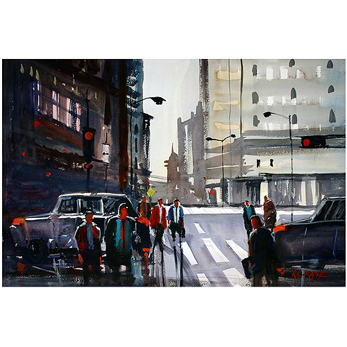 "Trademark Art ""Busy City - Chicago"" Canvas Art by Ryan Radke"