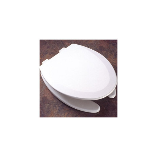 bemis molded wood decorator commercial open front elongated toilet seat