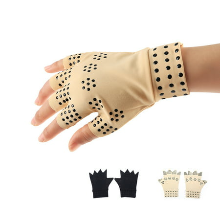 Boyijia Magnetic Arthritis Health Compression Therapy Gloves Women Men Pain Relief Fingerless Gloves - image 5 of 8