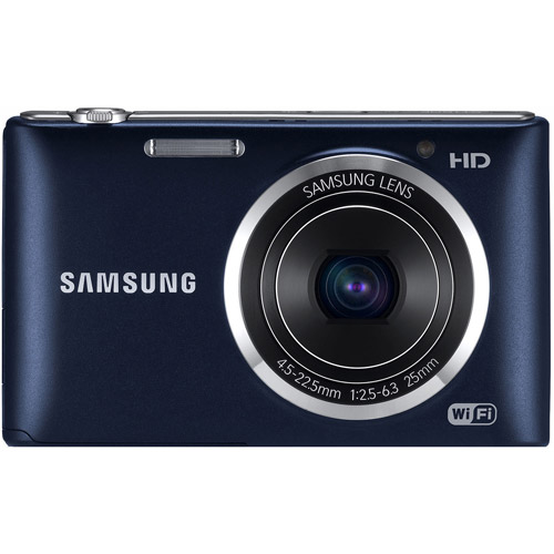 Samsung ST150F Smart WiFi Digital Camera w/ 16.2MP - Pebble Blue/Black