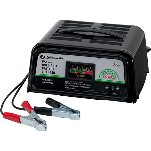Schumacher 6/2 Amp Dual-Rate Manual Charger