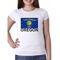 Oregon State Flag - Special Vintage Edition Girl's Cotton Youth T-Shirt