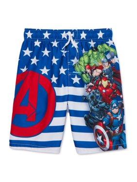 Avengers Boys 4-7 Swim Trunks