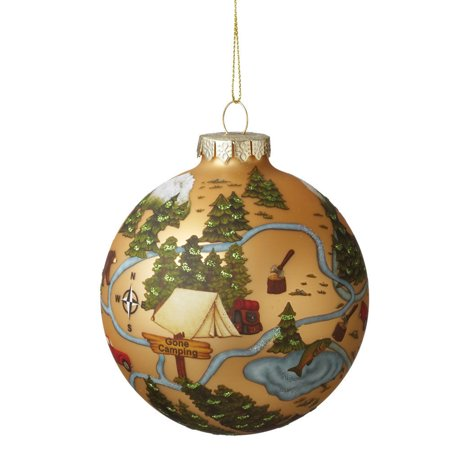 CAMPING FOREST Christmas Glass Ball Ornament](Camping Ornaments)