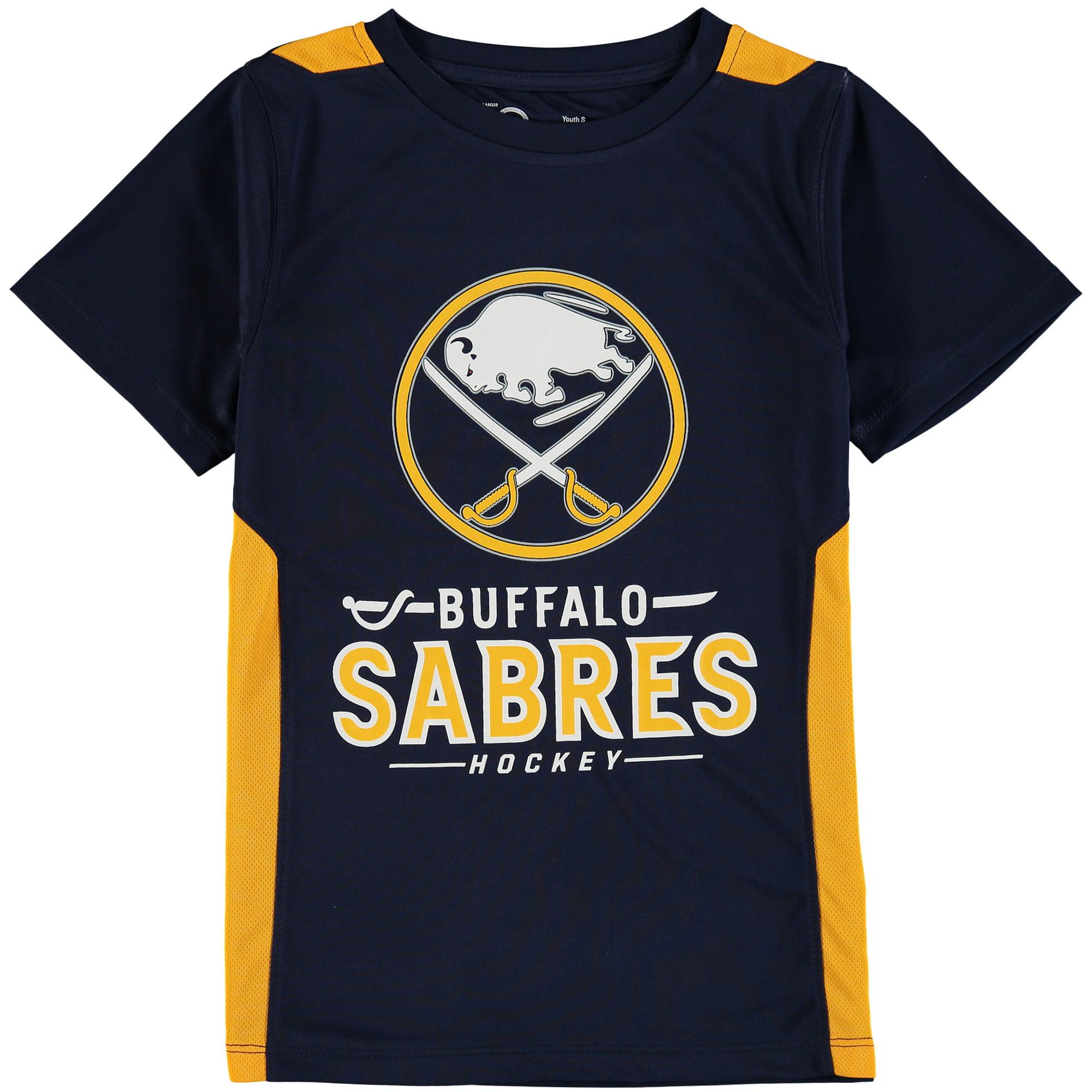 Buffalo Sabres Fanatics Branded Youth Lockup Poly Colorblock T-Shirt - Navy