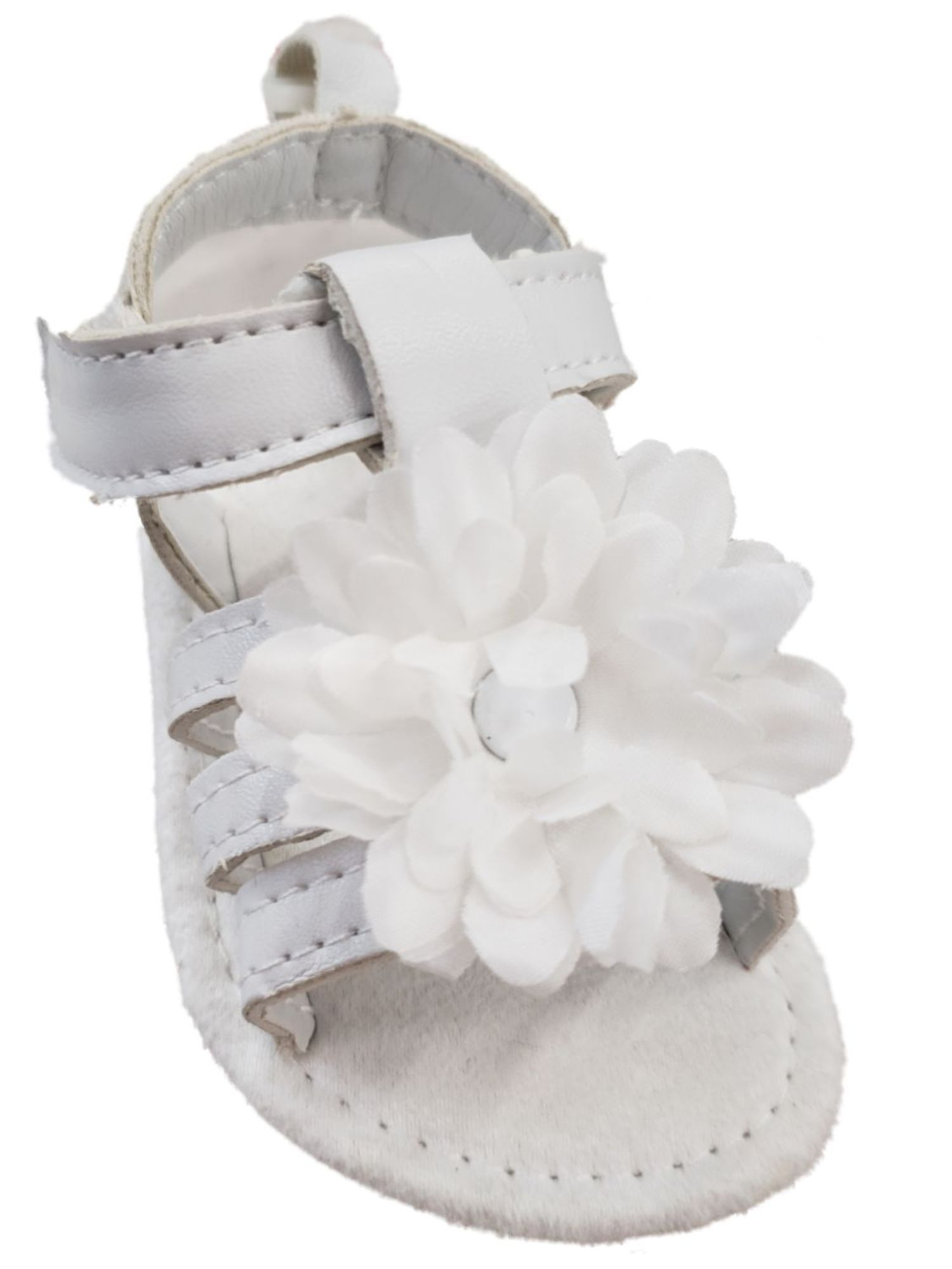 Infant Girls White Flower Strappy