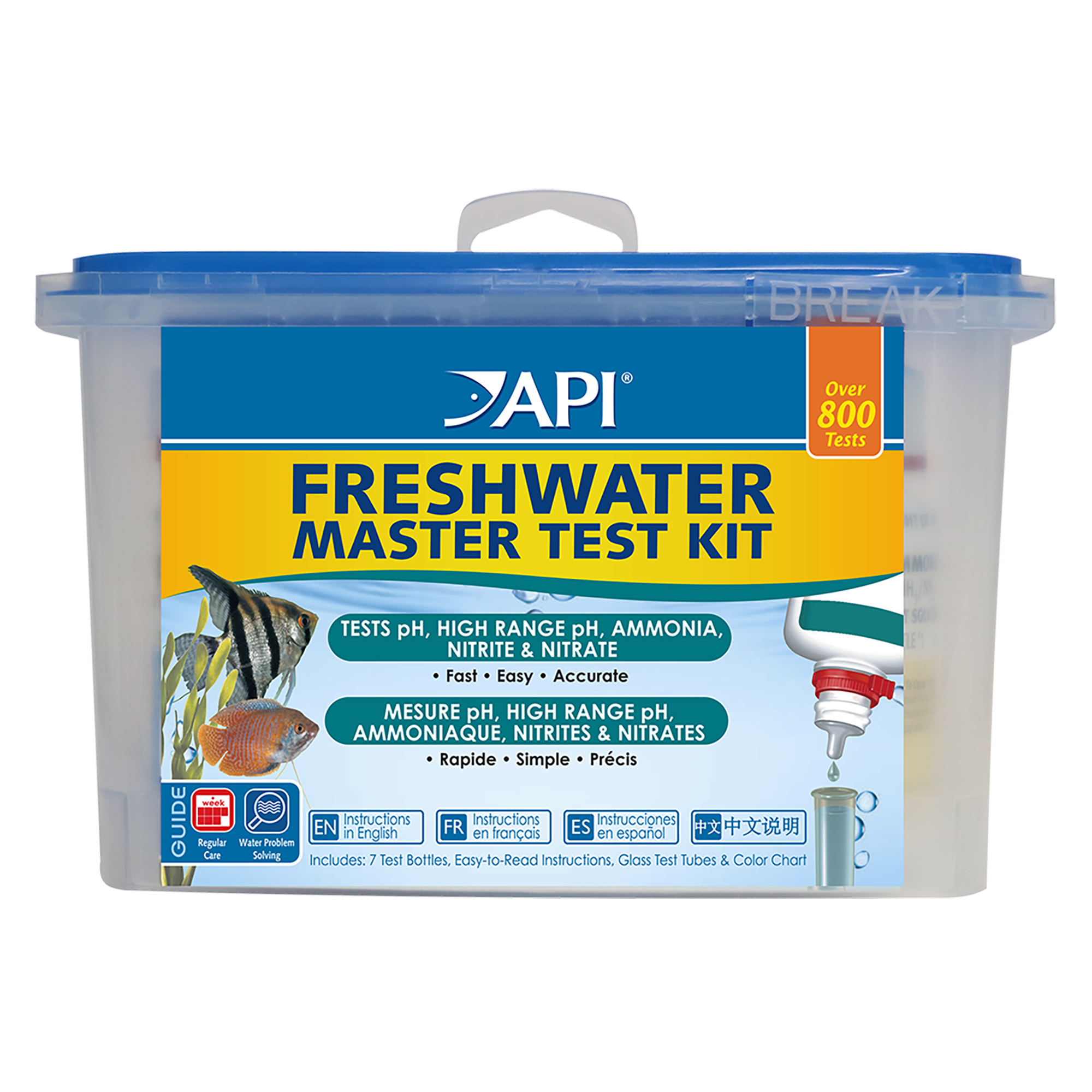 API Freshwater Master Test, Aquarium Water Master Test Kit, 1-Count