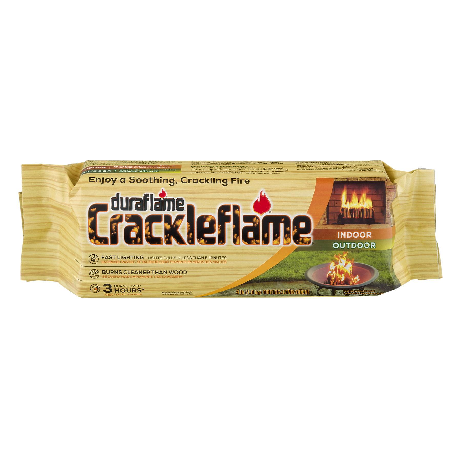 duraflame® Crackleflame® 4lb 3-hr Indoor/ Outdoor Firelog