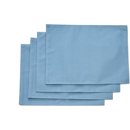 Better Homes And Garden Teal Silk Placemat Set Of 4