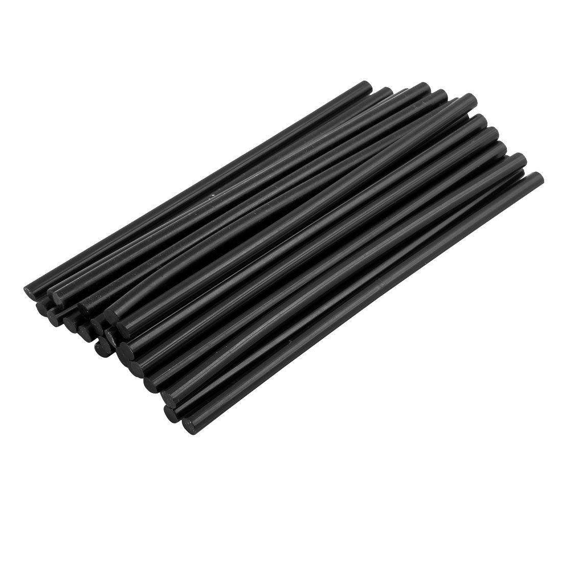 Unique Bargains 30 Pcs Black 7mm Diameter Soldering Iron Hot Melt Glue Stick 190mm Length