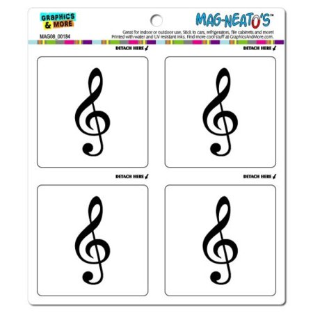 Graphics and More Treble Clef Music Mag-Neato's Automotive Car Refrigerator Locker Vinyl Magnet Set for $<!---->