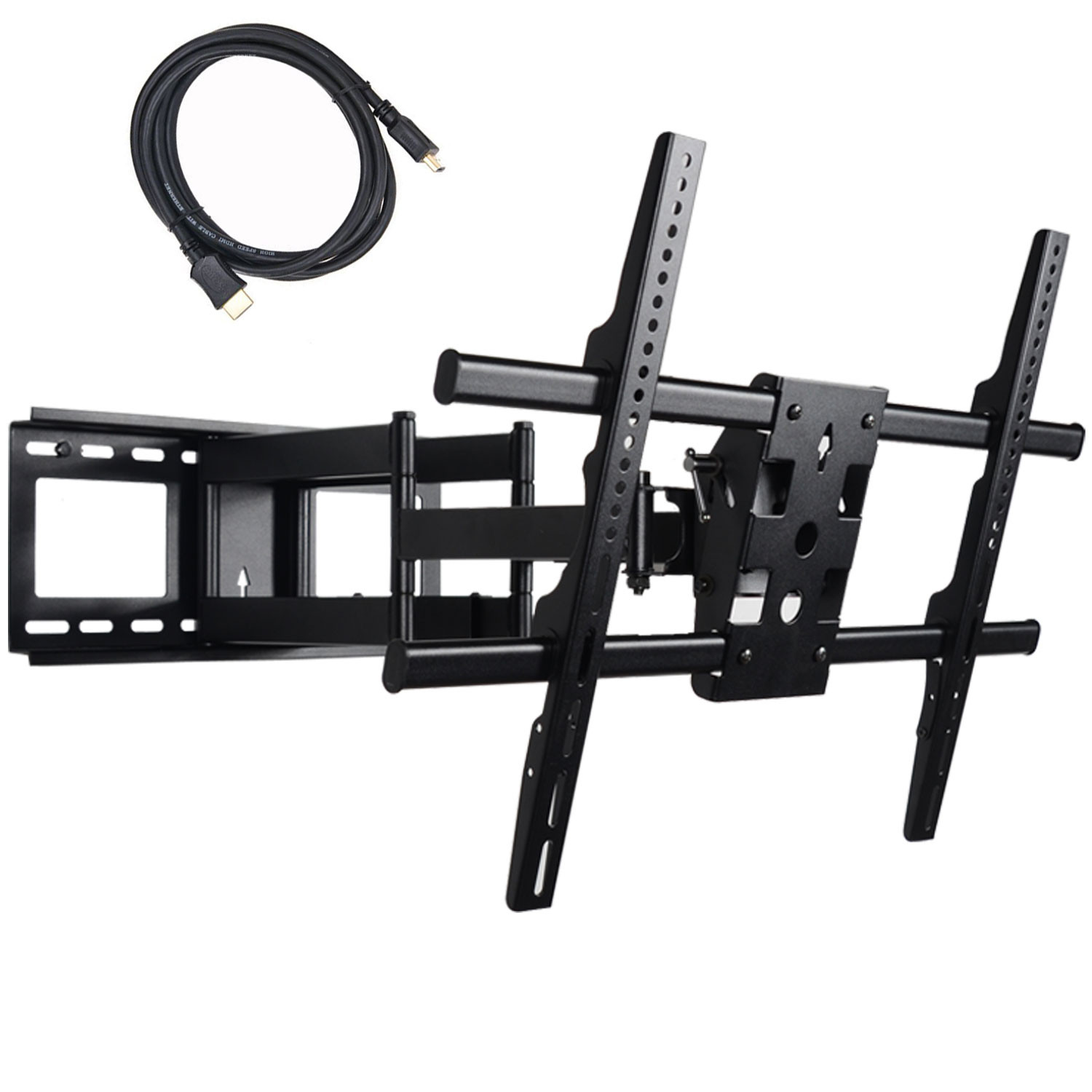 "VideoSecu Full Motion Tilt TV Wall Mount for most 40""-70"" Samsung UN75J6300AFXZA LG HDTV LCD LED Plasma MW380B2 BW9"