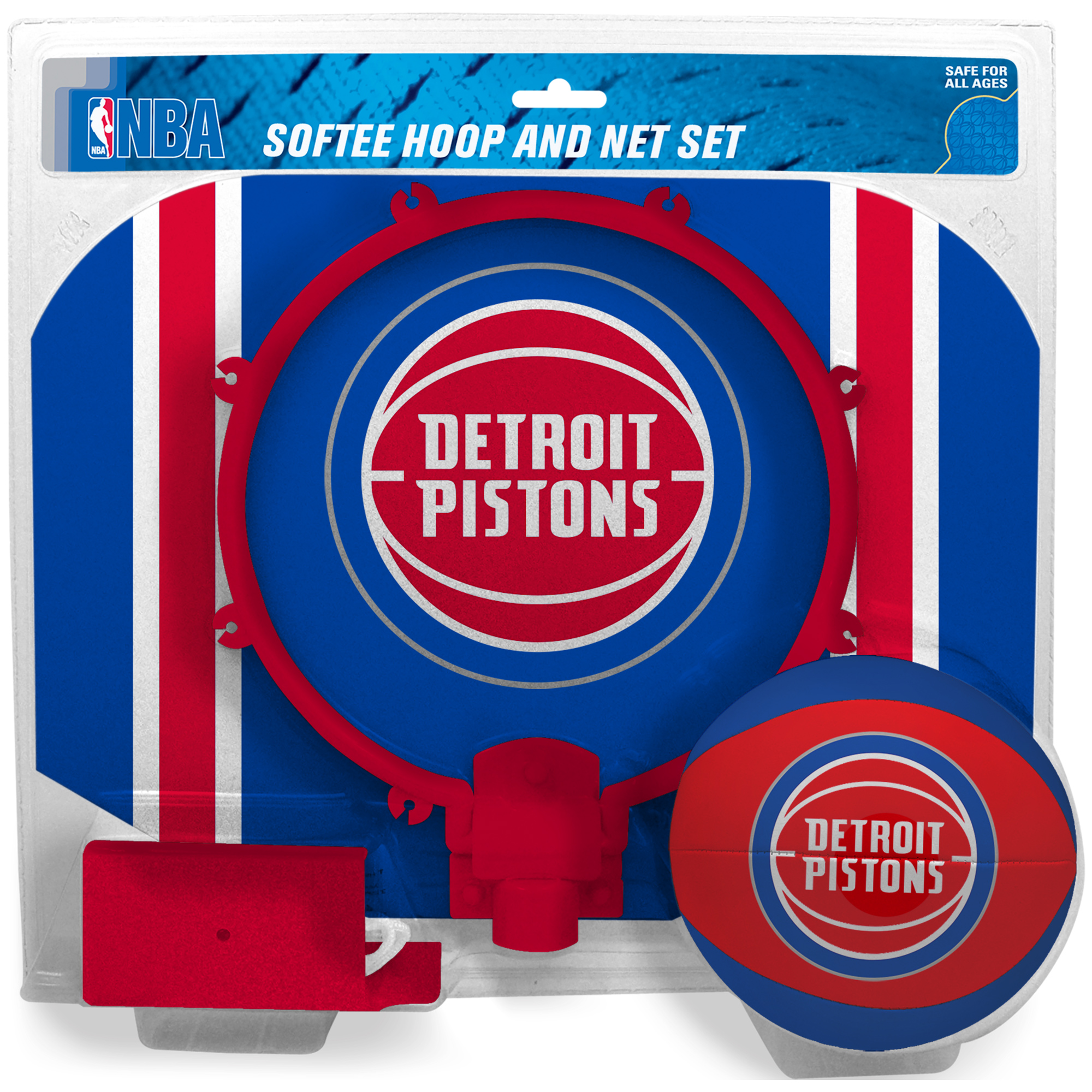 Detroit Pistons Rawlings Softee Hoop & Ball Set - No Size