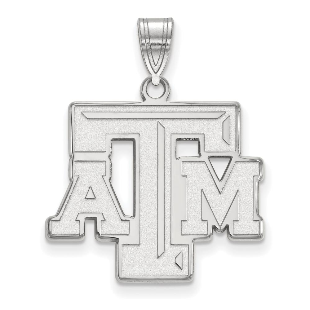 Texas A&M Large (3/4 Inch) Pendant (14k White Gold)