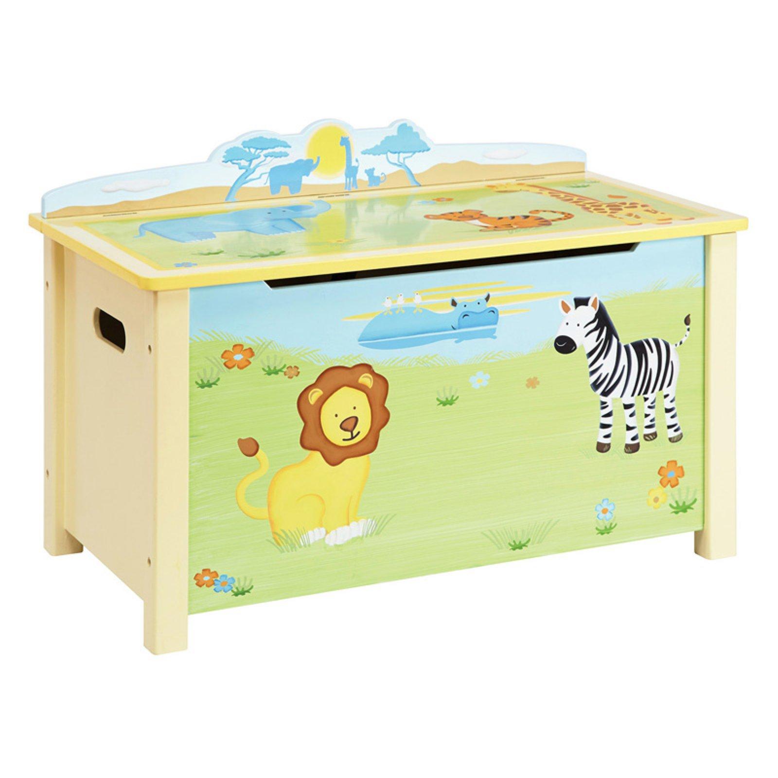 Guidecraft Savanna Smiles Toy Box, Green