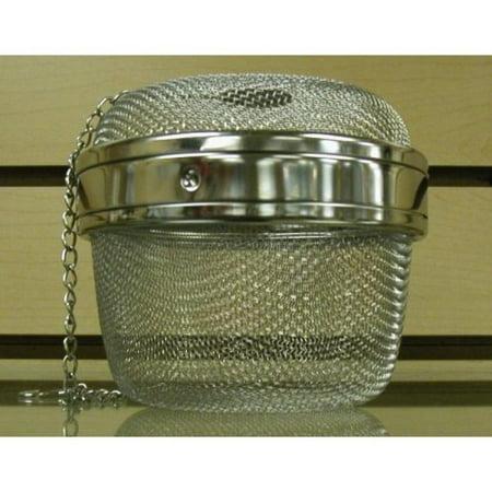 Stainless Steel Locking Spice Mesh Ball, Tea Strainer, Tea Infuser, Giant Size 4 Inch Diameter