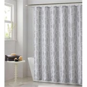 Luxury Home Woven Glass Jacquard Shower Curtain Set, Gray - 72 x 72 inch - 13 Piece Set
