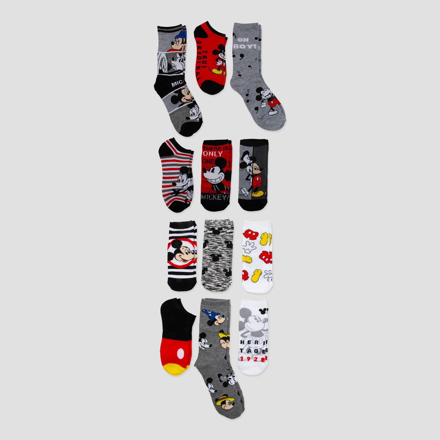Disney Mickey Mouse 90th Anniversary Birthday Advent Calendar 12 Days of Socks