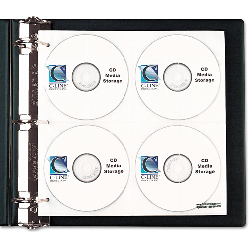 C-Line CD/DVD Refillable D-Ring Binder Kit, Black