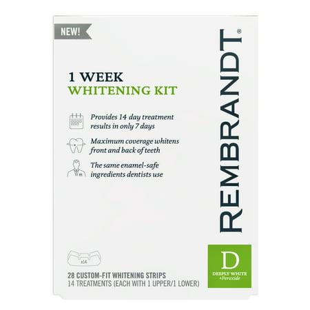 - Rembrandt 1 Week Teeth Whitening Kit, 14 Treatments
