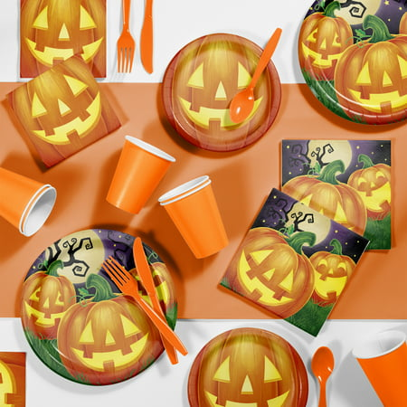 Creative Halloween Party Snacks (Pumpkin Party Halloween Party Supplies Kit for 8)