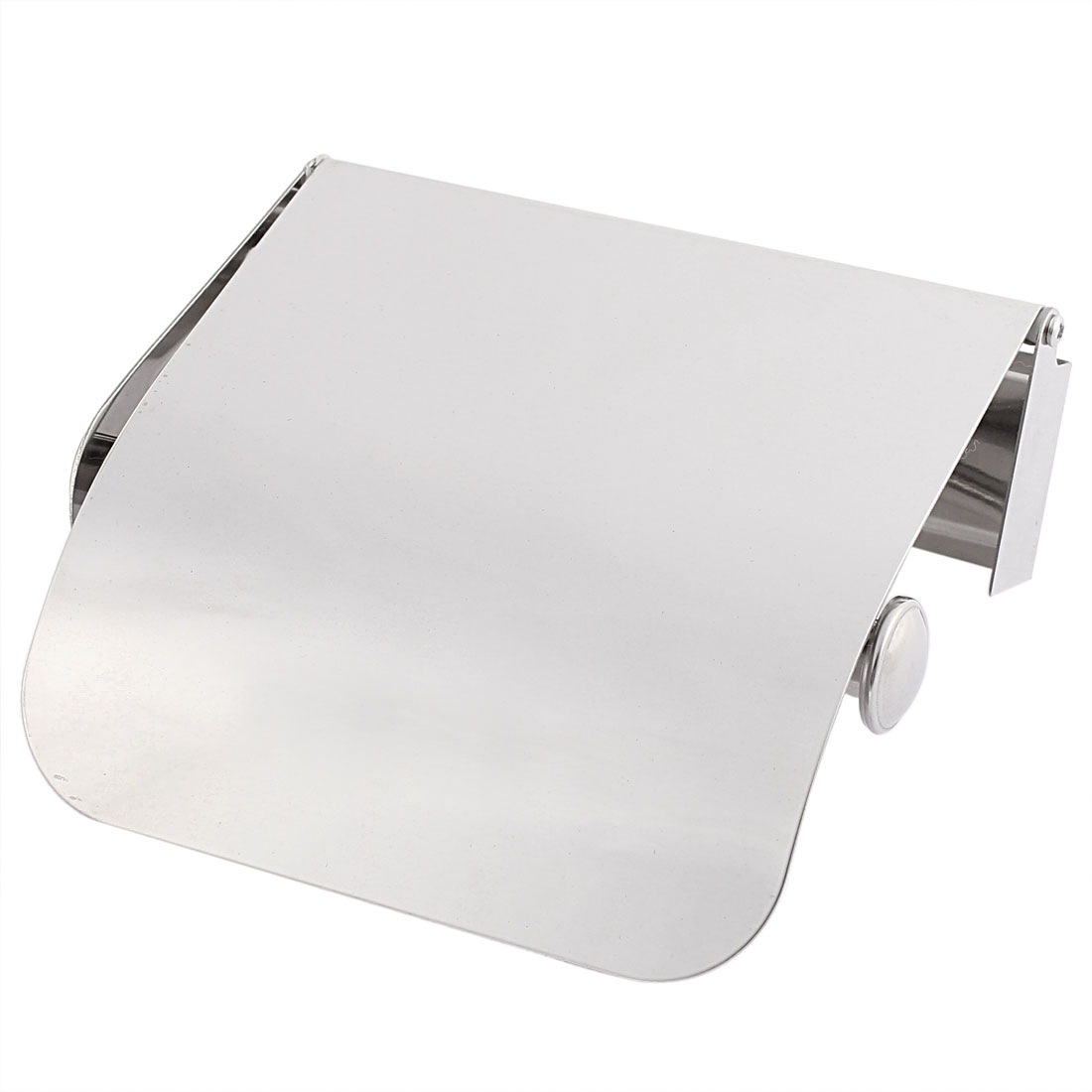 Stainless Steel Toilet Paper Holder Roll Tissue Case by Unique-Bargains